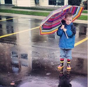 kieran in the rain