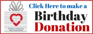 Birthday donate button