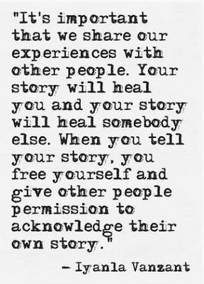 Quotes About Stories Beauteous Telling Your Story Healing Inspiring  Pcha