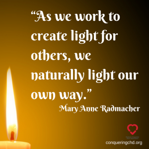 """As we work to create light for others,"